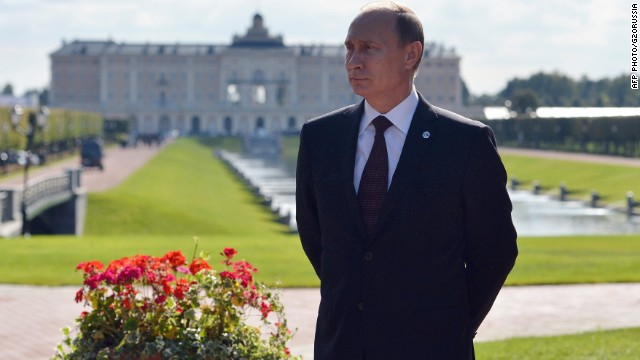 Russias President Vladimir Putin is pictured before the BRICS summit in Saint Petersburg in the sidelines of the G20 summit on September 5, 2013. Russia hosts the G20 summit hoping to push forward an agenda to stimulate growth but with world leaders distracted by divisions on the prospect of US-led military action in Syria.
