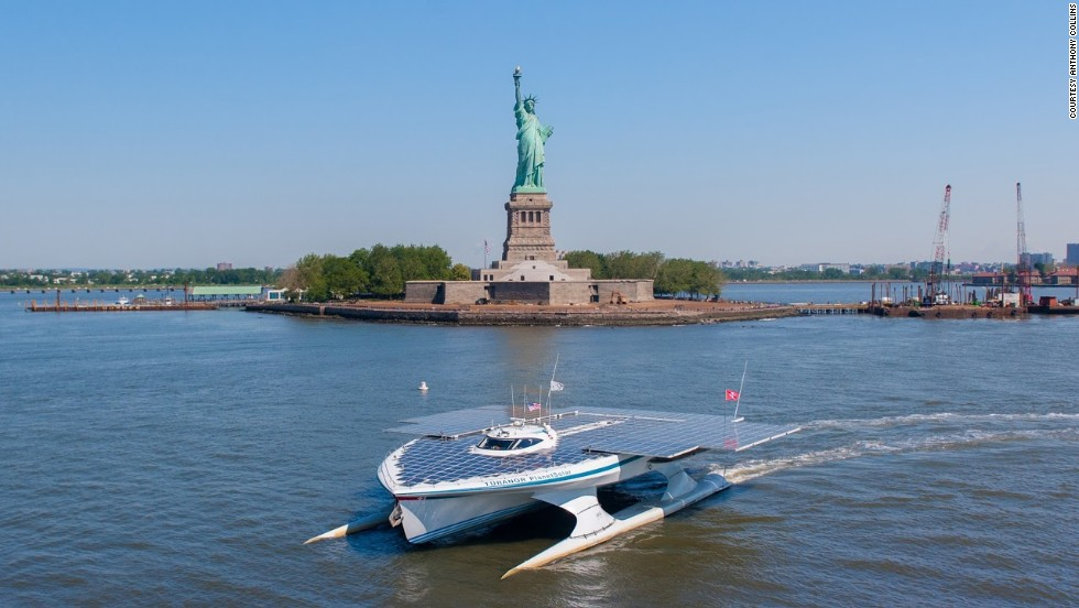 It's not the first time the remarkable boat has made headlines. In May last year it also became the first solar-powered vessel to circumnavigate the globe, traveling at an average speed of five knots.