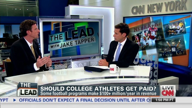 a debate on whether college athletes should be paid or not