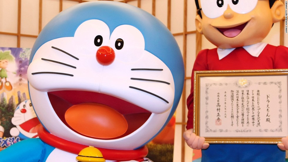 The Tokyo team called up popular Japanese cartoon character Doraemon to act as an ambassador for their Olympic bid.