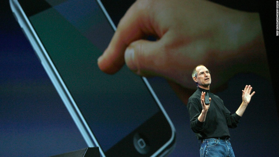 Apple CEO Steve Jobs introduced the <strong>iPhone</strong> to the world January 9, 2007, at the Macworld conference in San Francisco. The device, which seems almost quaint now, went on sale five months later.
