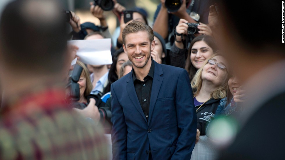 "Actor Dan Stevens at the gala for ""The Fifth Estate"" on September 5."