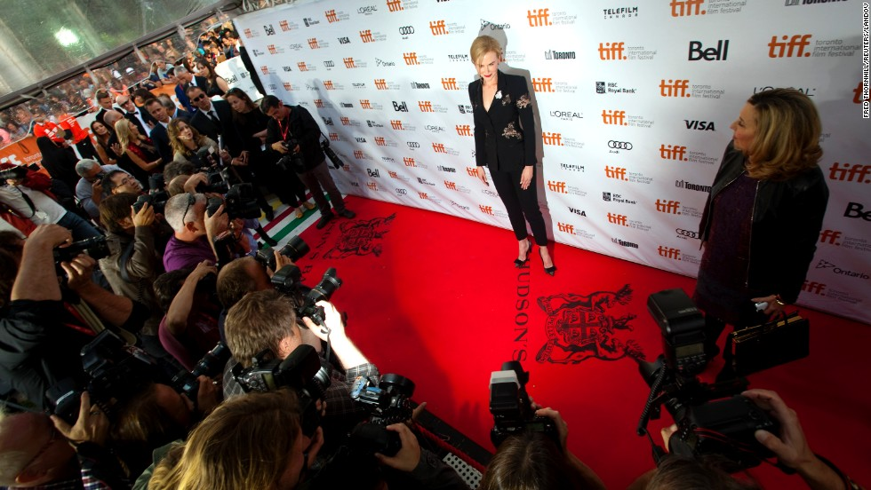"Actress Nicole Kidman arrives for the film premiere of ""The Railway Man"" on September 6."