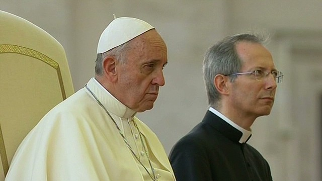 Pope Francis holds peace vigil