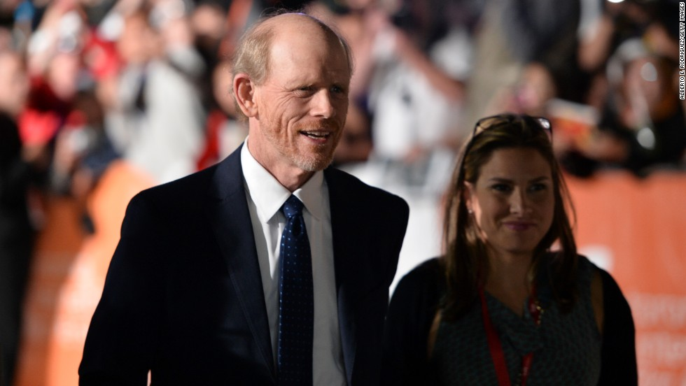 "Director Ron Howard attends the ""Rush"" premiere on September 8."