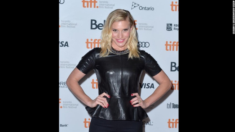 "Actress Katee Sackhoff attends the ""Oculus"" premiere on September 8."