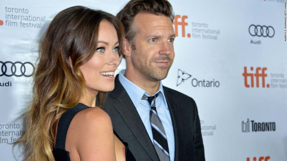 "Actors Olivia Wilde and Jason Sudeikis attend the ""Rush"" premiere on September 8."