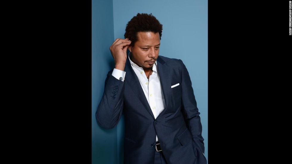 "Actor Terrence Howard of ""Prisoners"" poses at the Guess Portrait Studio on September 7."
