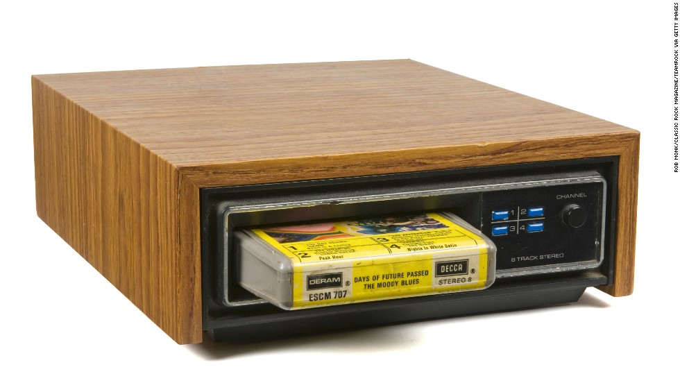 For more than a decade, the cassette's chief competition in the portable tape market was the 8-track cartridge, invented in 1964. Eight-tracks were divided into four programs, each with two-track stereo (hence 8 tracks). Automobile manufacturers adopted the 8-track quickly, but the format had its flaws -- it wasn't rewindable and the programs sometimes split songs in two. By the late '70s, the cassette had won the tape war.