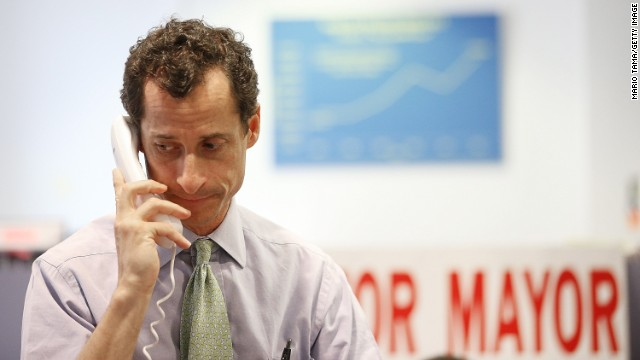 Plagued by scandal,  Anthony Weiner finishes distant fifth in primary.