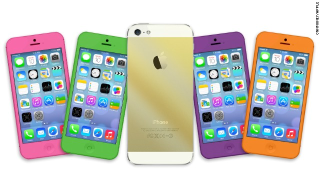 A gold, or champagne, iPhone5 could be one of the new products unveiled by Apple on Tuesday, September 10, 2013.