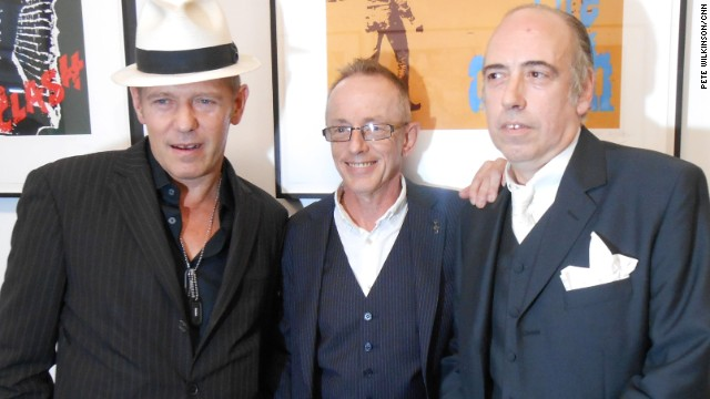 The Clash today: Left to right, Paul Simonon, Topper Headon and Mick Jones.