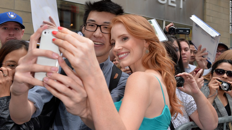 "Jessica Chastain arrives for the premiere of the two-part film ""The Disappearance of Eleanor Rigby"" on Monday, September 9."