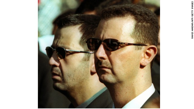 A file picture dated 13 June 2000 shows Syrian President Bashar al-Assad (R) and his brother Maher during the funeral of their father, Syria's late president Hafez al-Assad in Damascus. Syria was considering 07 November 2005 a request from United Nations investigators to interrogate Syrian officials over the murder of Lebanese former premier Rafiq Hariri. According to Lebanese newspapers, the commission led by German investigator Detlev Mehlis wants to interrogate six Syrian security officials, including Assef Shawkat. AFP PHOTO/RAMZI HAYDAR (Photo credit should read RAMZI HAIDAR/AFP/Getty Images)