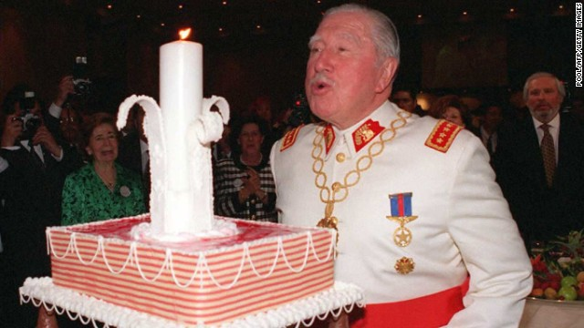 Gen. Augusto Pinochet, who died in 2006, celebrated his 80th birthday in 1995 in Santiago, Chile.