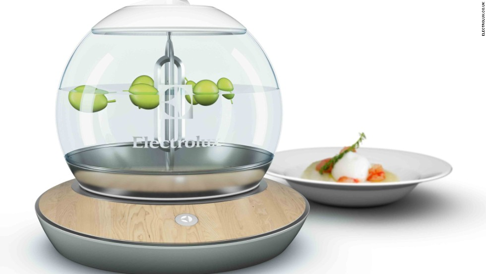 "<a href=""http://www.electrolux.co.uk/Global-pages/Promotional-pages/Electrolux-Design-Lab/Electrolux-Design-Lab-Finalists-Present-Concepts-that-Stimulate-the-Senses/"" target=""_blank"">The Mo'Sphere</a> is a molecular cooking device that lets you create new foods using a bit of chemistry."