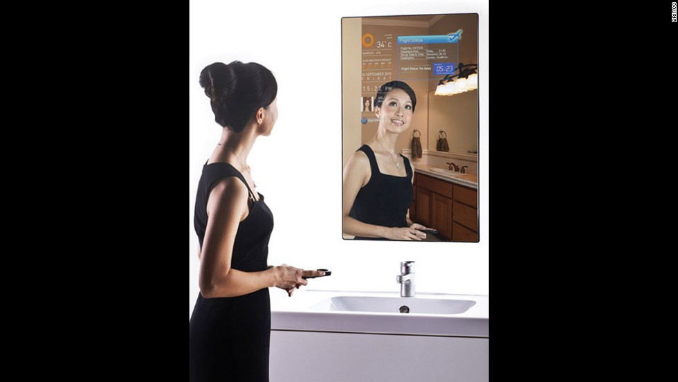 "<a href=""http://www.brit.co/introducing-the-magic-mirror-2-0/"" target=""_blank"">The Magic Mirror</a> is a fully functioning Wi-Fi mirror that lets you browse the Web and check the weather while you're brushing your teeth."