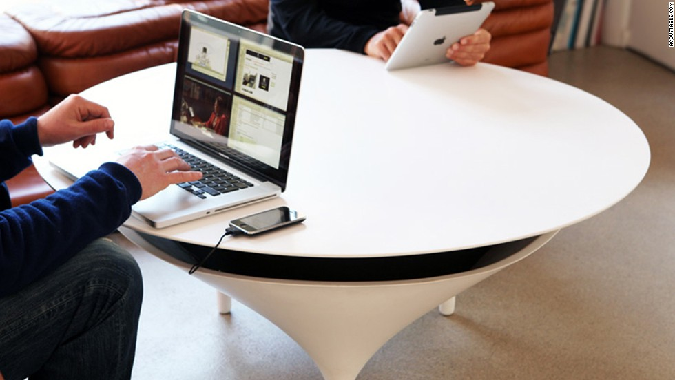 "<a href=""http://acoustable.com/"" target=""_blank"">Acoustable</a> is a speaker and a coffee table in one."