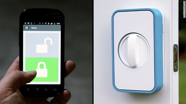 Lockitron's app lets you use a smartphone to unlock your doors.
