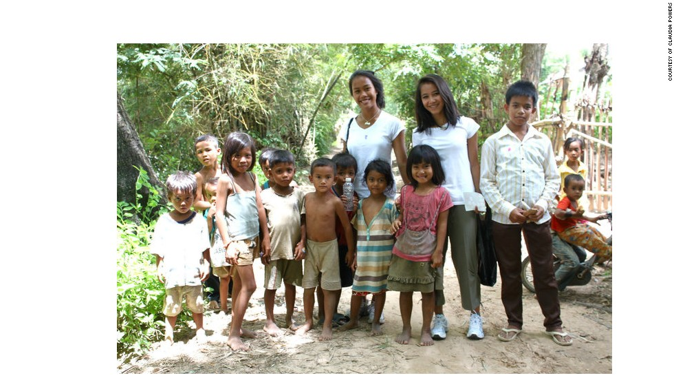 Srey Powers was adopted from Cambodia when she was six years old. Here she meets children in the northern village where her birth sister lives.
