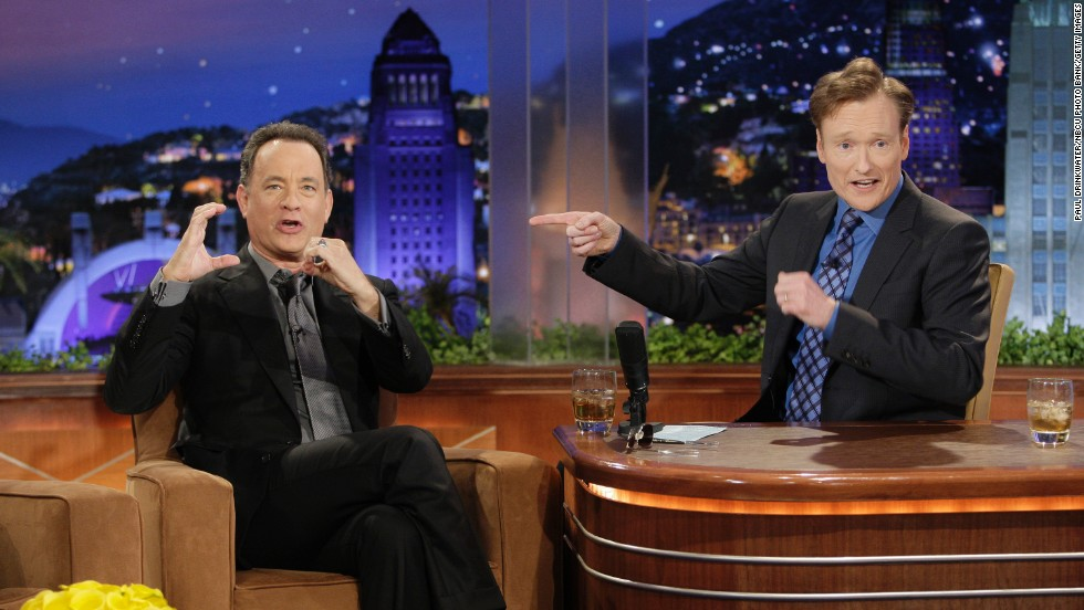 "One of Conan's early ""Tonight Show"" guests, Tom Hanks, ""ruined"" Conan's life. <a href=""http://gawker.com/5686066/conan-obrien-to-tom-hanks-you-ruined-my-life"" target=""_blank"">As he later explained on TBS' ""Conan,""</a> Hanks repeated it on ""Tonight Show"" and popularized the nickname ""Coco."""
