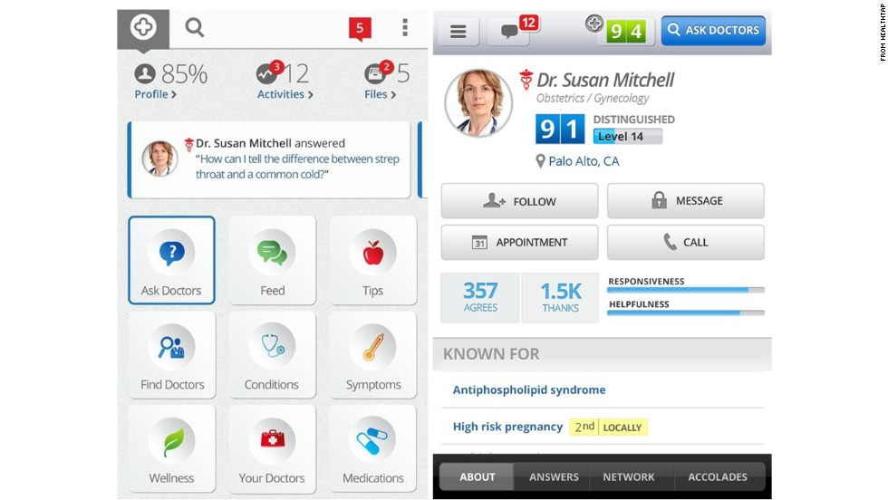 "HealthTap is a mobile health care Q&A platform. Users can submit their questions and get answers from more than 40,000 verified, licensed physicians in the HealthTap Medical Expert Network, as well as view other users' answers while remaining completely anonymous. (iPhone, iPad, Android, <a href=""https://www.healthtap.com/"" target=""_blank"">Healthtap.com</a>)"