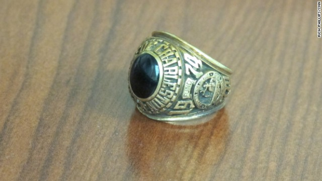 The large, gold ring had the initial RLP inscribed inside it.