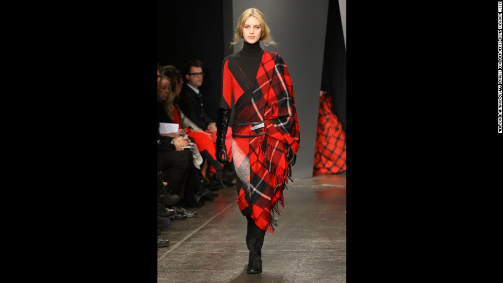 Donna Karan's fall 2012 show during New York Fashion Week in February 2012.