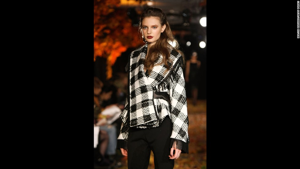 Douglas Hannant's fall 2012 show during New York Fashion Week in February 2012.