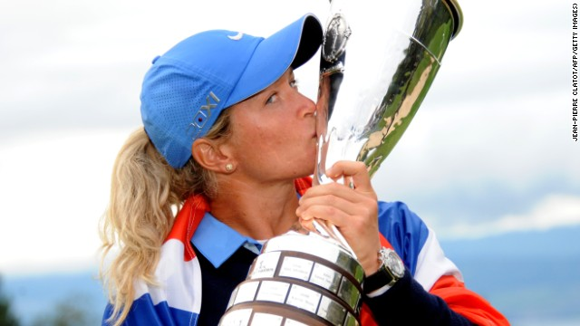 Norway's Suzann Pettersen enjoys the spoils of success after claiming the final women's major of the season.