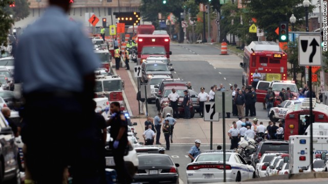 At least 12 dead in Navy Yard shooting
