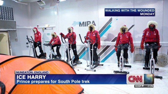 Prince prepares for South Pole trek