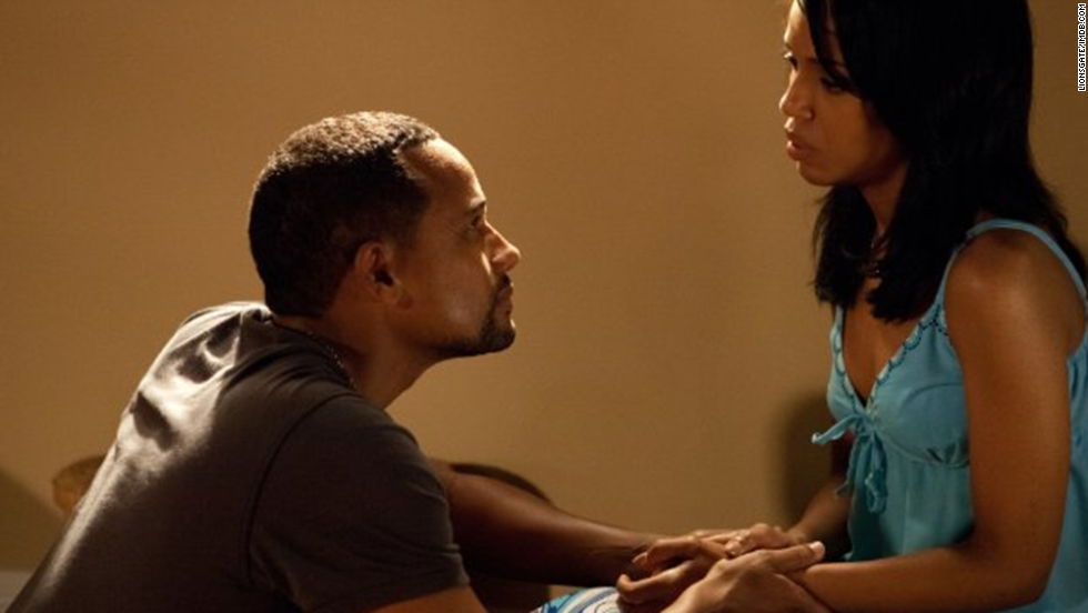 "Washington stars as Kelly/Blue opposite Hill Harper in ""For Colored Girls,"" Tyler Perry's 2010 film of Ntozake Shange's play."