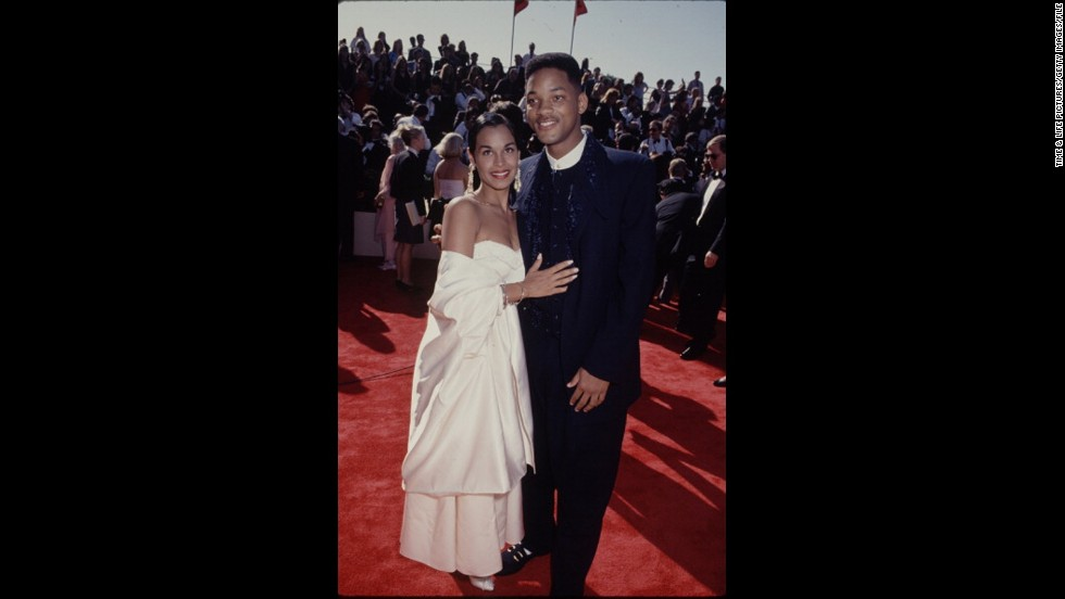"""Fresh Prince"" Will Smith looked regal at the 1993 Emmys alongside his wife at the time, Sheree."