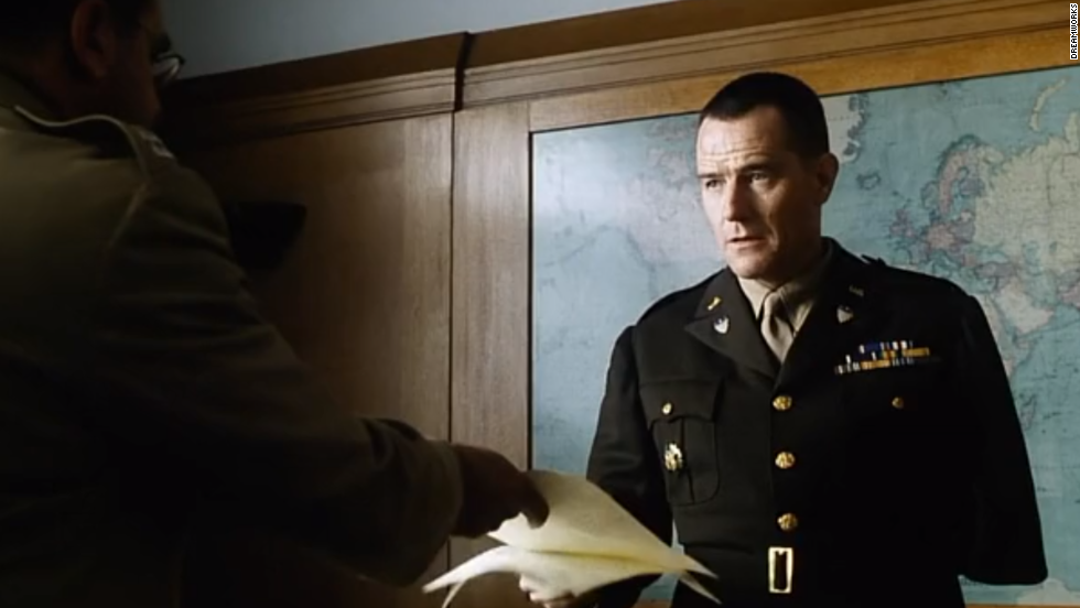 "Cranston plays a War Department colonel in ""Saving Private Ryan"" (1998)."