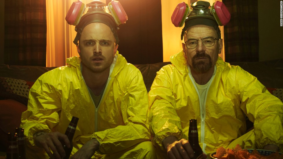 "As ""Breaking Bad's"" Walter White, a former chemistry teacher turned meth mogul, Cranston (with Aaron Paul, left) has won three Emmys."