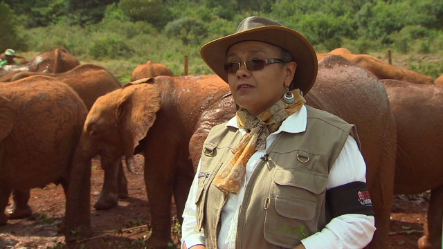 Kenya's first lady saves elephants