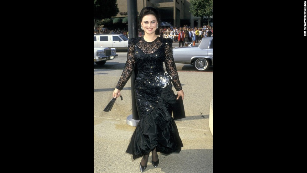 "In 1987, ""Designing Women"" actress Delta Burke chose a black dress for the Emmys, but it was anything but basic."