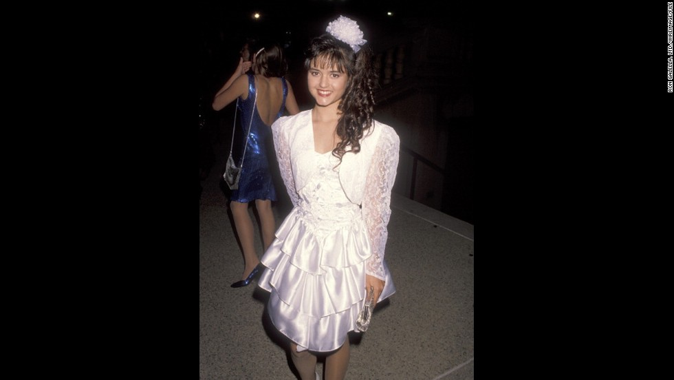 """Wonder Years"" actress Danica McKellar stole hearts at the 1990 Emmys in a sweet layered dress."