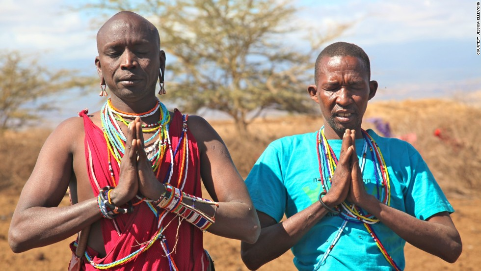The Maasai yoga instructors say the combination of yoga and their lifestyle can bring both mental and physical benefits to their community. However, they say it took a while before the Maasai understood it wasn't about religion.