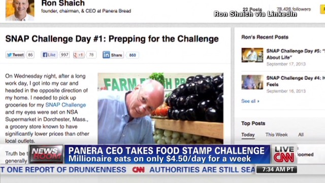 Panera CEO takes food stamp challenge