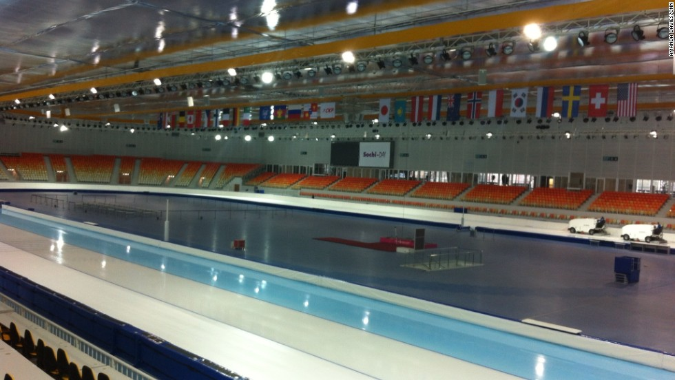 Located in the center of the Olympic Park, the Adler Arena will allow up to 8,000 spectators to watch the world's top speed skaters battle it out to claim sporting immortality.
