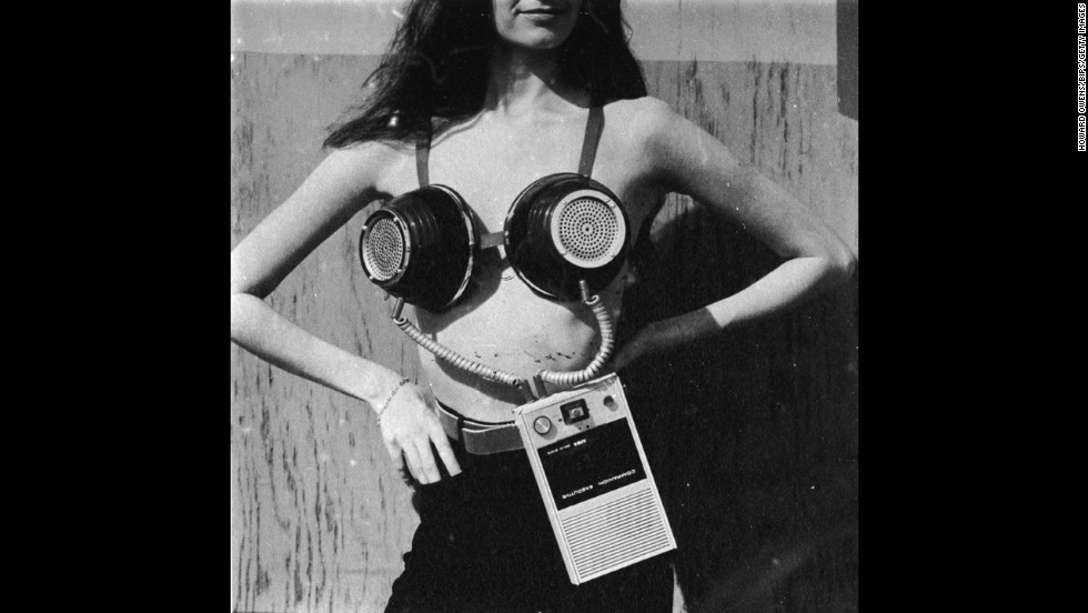 "Not every listening technology made the mainstream. A portable musical stereo bra, designed by Geoffrey Weston for Philip Garner's spoof ""Better Living Catalogue,"" never busted through."