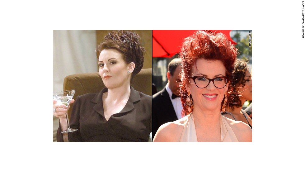 "Megan Mullally went for laughs as the frequently boozing and pill popping Karen Walker, Grace's wealthy, somewhat-helpful assistant. She briefly hosted her own talk show from 2006 to 2007, has guest starred on several shows including husband Nick Offerman's ""Parks and Recreation"" and co-stared on the Adult Swim series ""Children's Hospital."""