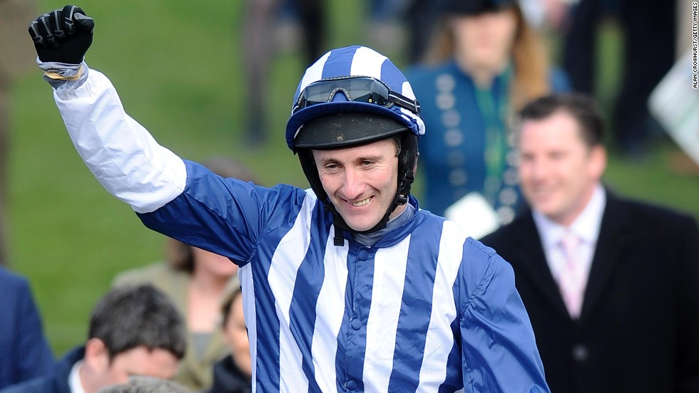 McNamara, 37, was reportedly one month away from retiring at the time of his fall at the Cheltenham Festival. Pictured here as a winner at the same track a year earlier, the Irishman is credited as being one of the finest amateur jockeys in British racing history.