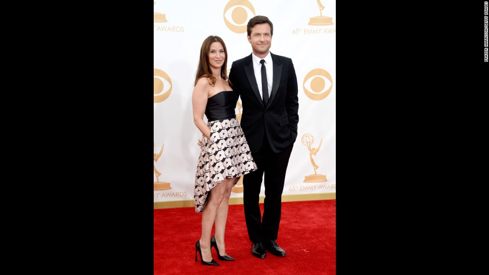 """Arrested Development"" star Jason Bateman with his wife, Amanda Anka. He was nominated for outstanding lead actor in a comedy series."