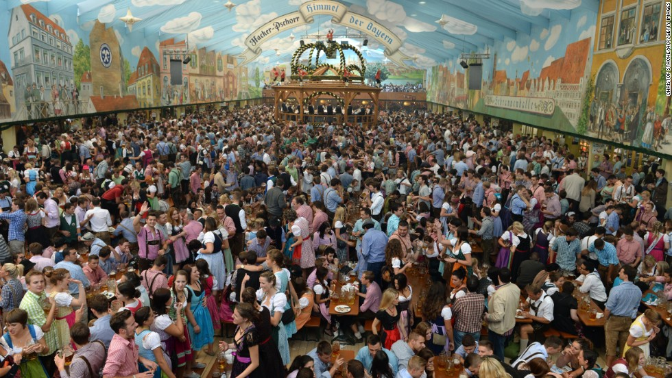 A large crowd gathers to drink on September 21.