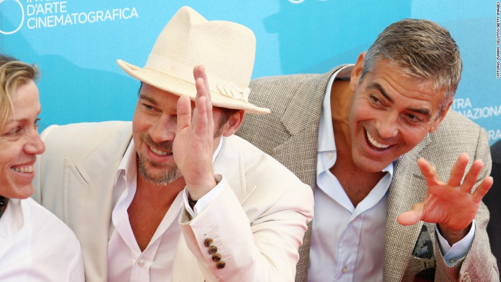 "Brad Pitt and George Clooney always seemed to<a href=""http://www.people.com/people/article/0,,20566852,00.html"" target=""_blank""> have a blast</a> making those ""Ocean's"" movies, and the fun has just continued for these two. Clooney even name-dropped Pitt in his Golden Globes acceptance speech last year."
