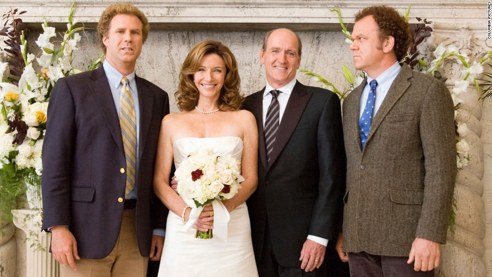 "Will Ferrell, left, and John C. Reilly, right, play the titular feuding ""Step Brothers"" after their parents, played by Mary Steenburgen and Richard Jenkins, get hitched. The battle really heats up when the step-siblings are forced to bunk up."