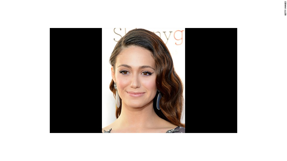 Emmy Rossum carries off a 'fairytale kind of look' courtesy of makeup artist Jo Baker.